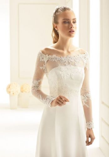 Camilla tulle bridal bolero, lace wedding jacket